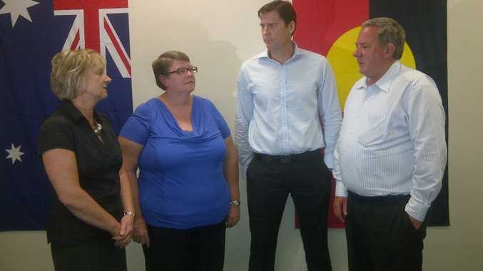 Hack practice and program manager Jo Baldwin (left), acting Hack coordinator and district coordinator Christine Hardwick, Life Without Barriers area operations manager Tony Willett and Member for Mackay Tim Mulherin.
