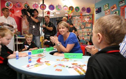 Queensland Premier Anna Bligh at Parkhurst State School.