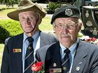 Terrence McGovern, left and Keith Shepherd at the Queensland State Memorial to national servicemen.