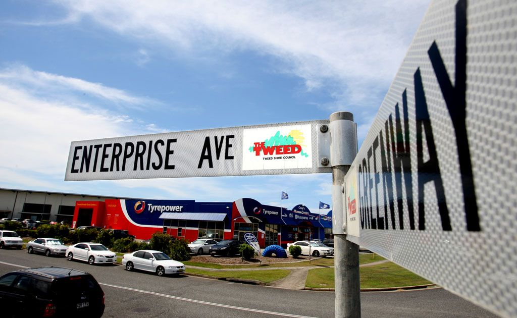 The worker was injured at a business in Enterprise Ave, Tweed Heads South.