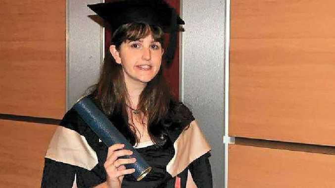 Jennifer Farrington at her university graduation recently.