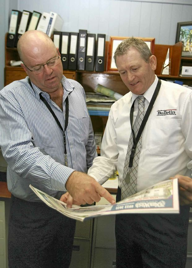 APN ARM northern executive general manager Simon Irwin with assistant general manager Phill LePetit.