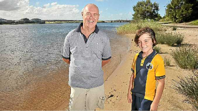 The Decks resident Alan Gale and his neighbour, Taj Monro, 9, have shark tales to tell as fears of an attack at Lake Kawana increase.