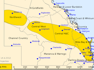 Severe storm warning current for Qld