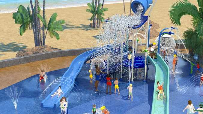 What the proposed Bowen Water Park is expected to look like when completed.