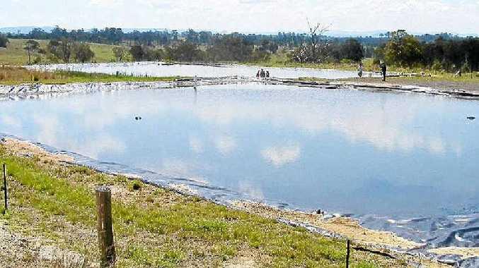Metgasco's holding ponds at Piora Quarry in Casino causing controversy.