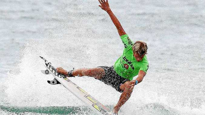 Snapper Rocks surfer Eli Jacobs finished third in the final of the Jim Beam Boardriders Cup at Lennox Head. Renee Miller