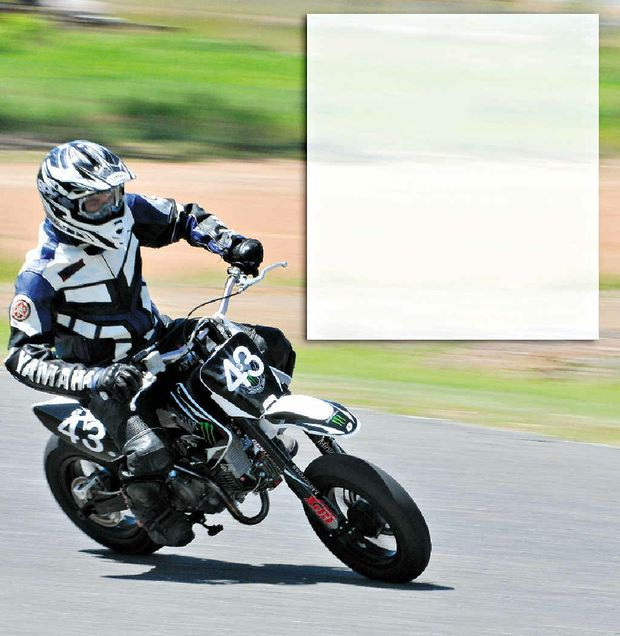 matthew guse rides at the cq mini motos at the gladstone kart club