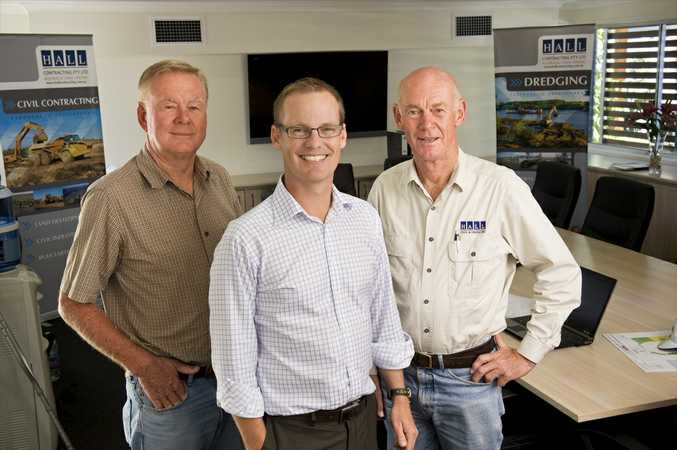 Hall Contracting director Cameron Hall, together with Brian and Peter Hall.