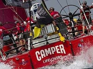 Camper leads in monster waves