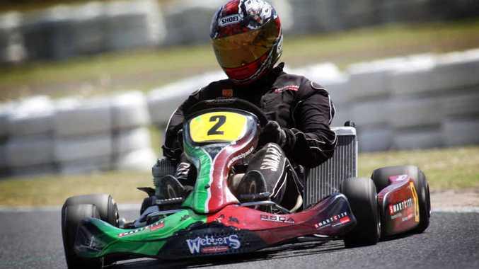 Matt Dicinoski racing a Leopard Heavy.