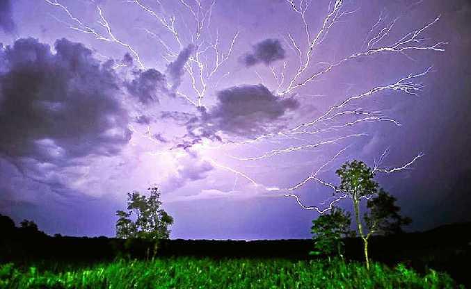 Peter Enright's shot of a lightning strike taken at Peregian Beach.