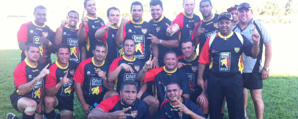 The champion Australian Indigenous Nines team.