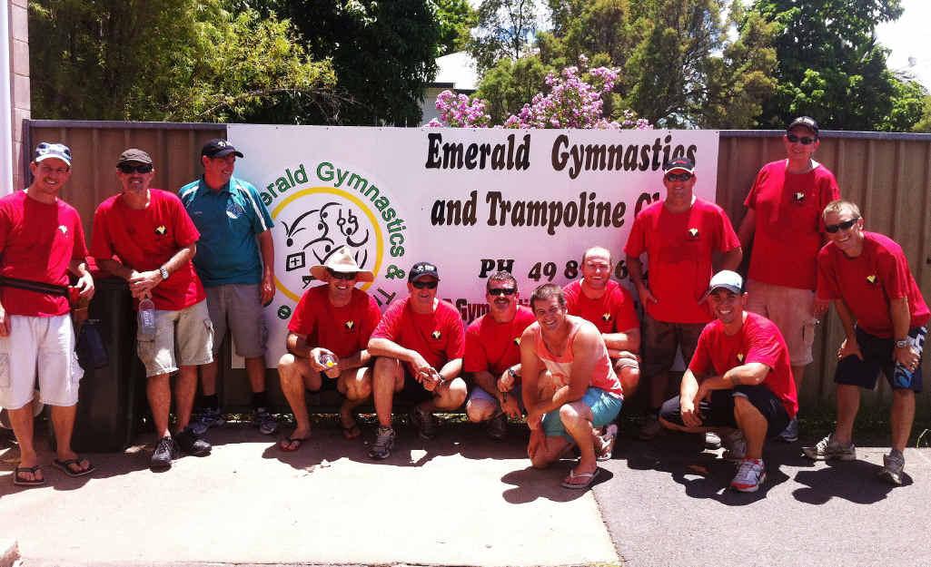 CFMEU Crinum lodge members at the Emerald Gymnastics Club.