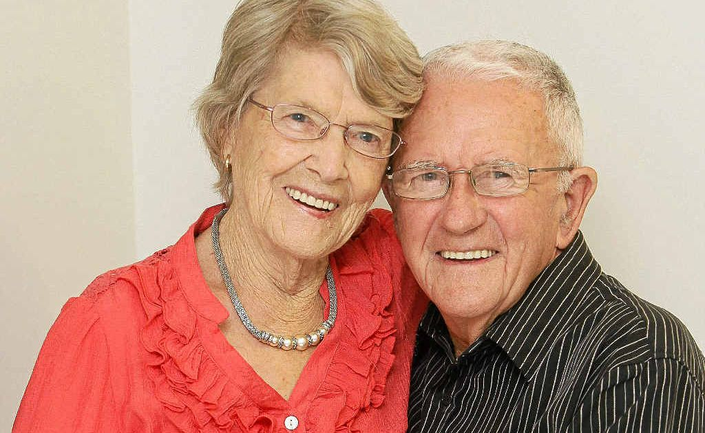 Cliff and Jean Collins celebrate their 65th wedding anniversary.