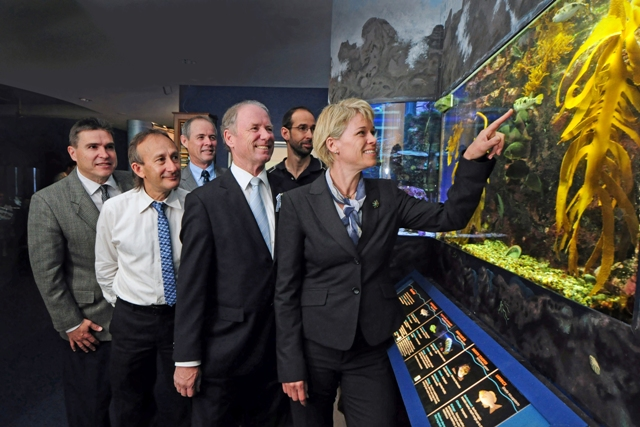 Primary Industries Minister Katrina Hodgkinson announces the NSW Fisheries restructure at Coffs Harbour's National Marine Science Centre last September.