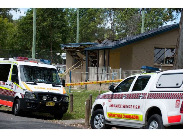 The roof of Moonee Hall collapsed on Sunday morning. Nobody was injured.