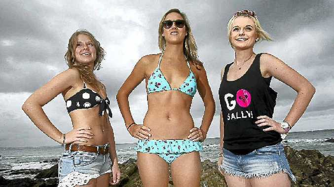 Josie Ellem, Fiona Franklin and Teaghan Rees are vying to be the face and voice of the Roxy brand. Organisers are searching for a girl during the Roxy Pro to help promote the brand worldwide.