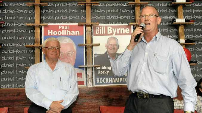 Labor candidates Paul Hoolihan and Bill Byrne at the Heritage Hotel for the official Labor Party campaign launch.