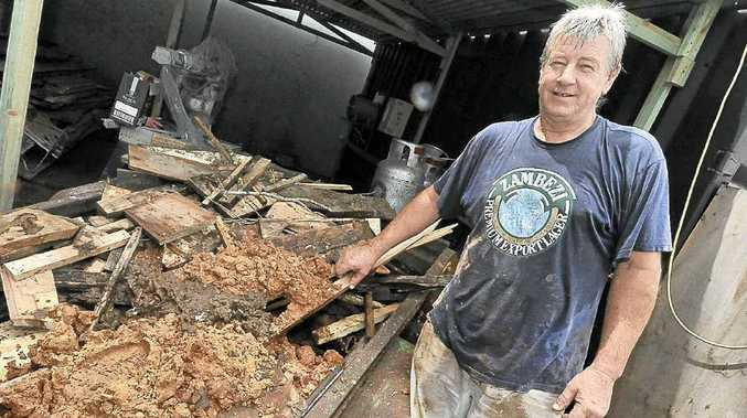 CLEANING UP: Nature's Cutting Boards owner Tony Hayes.