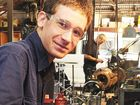 Ryan Lucca is studying while working at Olds Engineering.