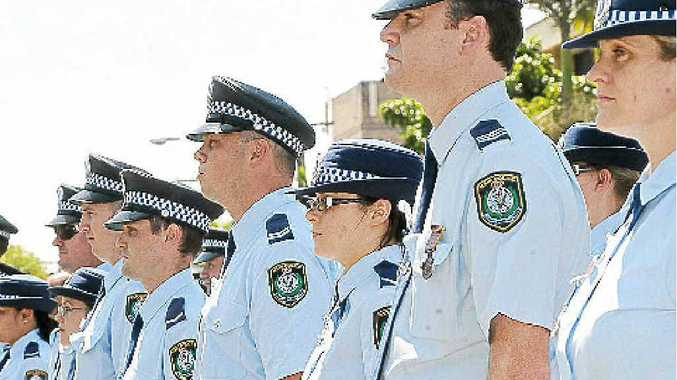 Police assembled for Police Memorial Day in Lismore last year.