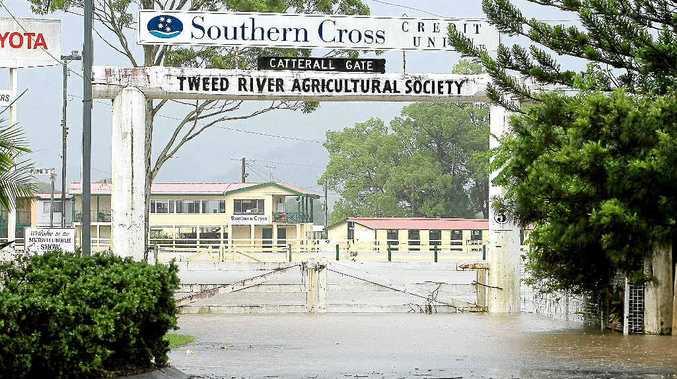 Flooding around Murwillumbah as the showgrounds go under water.
