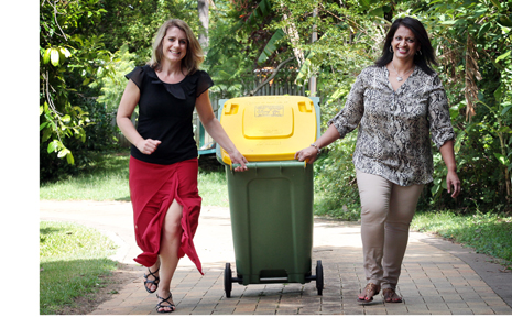 A new report shows recycling has become second nature for many Australian households. (File photo)
