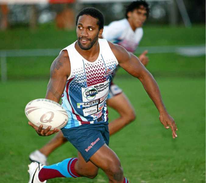 Mackay Cutters player Jardine Bobongie in training.
