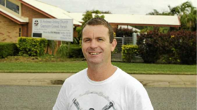 Jason Massie thinks it's wrong that thieves broke into the Yeppoon St Andrew's Uniting Church in Lorrikeet Ave, across the road from his family home.