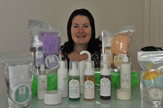 Mellesa Smith with some of her products