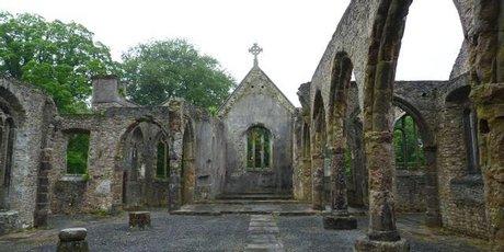 The ruins of Holy Trinity Church in Buckfastleigh, Dartmoor.