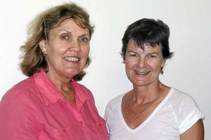 Anna Coats (left) and Fiona Herrington will talk about sustaining healthy relationships at an International Women's Day celebration in Memorial Park hosted by Gympie and District Women's Health Centre next Thursday.