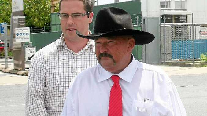 Katter's Australian Party state leader Aidan McLindon and Rockhampton candidate Shane Guley meet in Rockhampton to publicly discuss the party's policies.