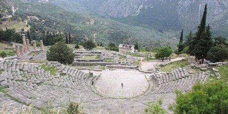 The Pythian Games theatre at Delphi, Greece.