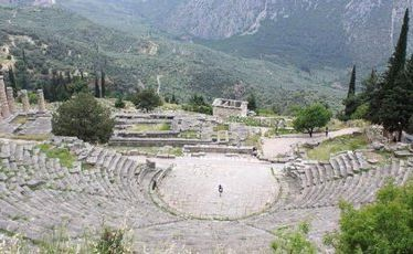 The Pythian Games theatre at Delphi, Greece.
