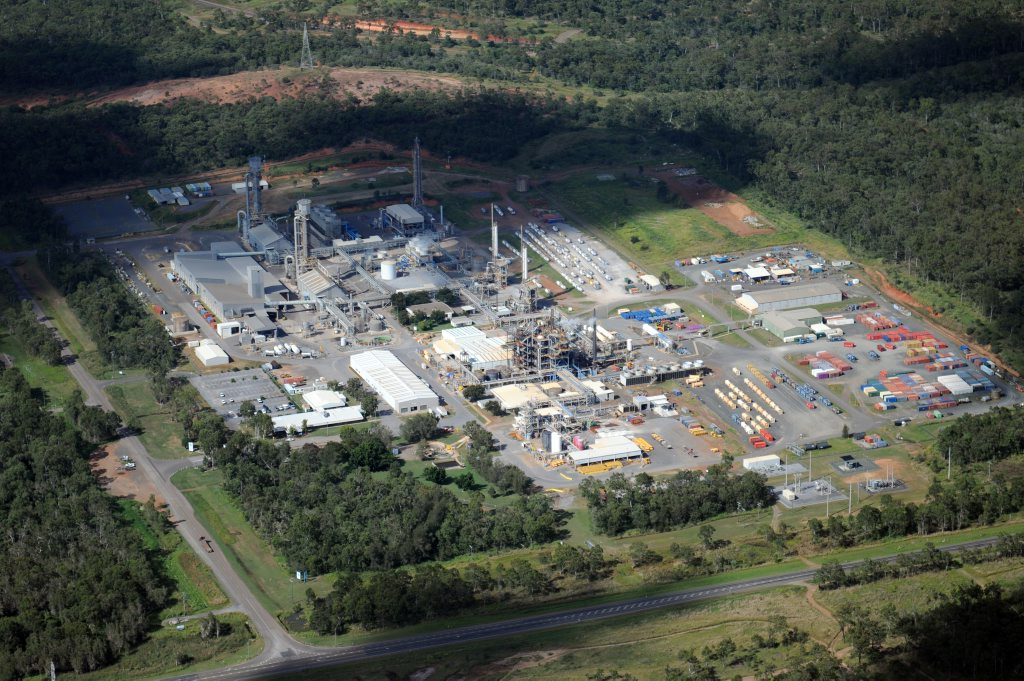 Aerial photography of Gladstone region taken February 27th, 2011: Orica.