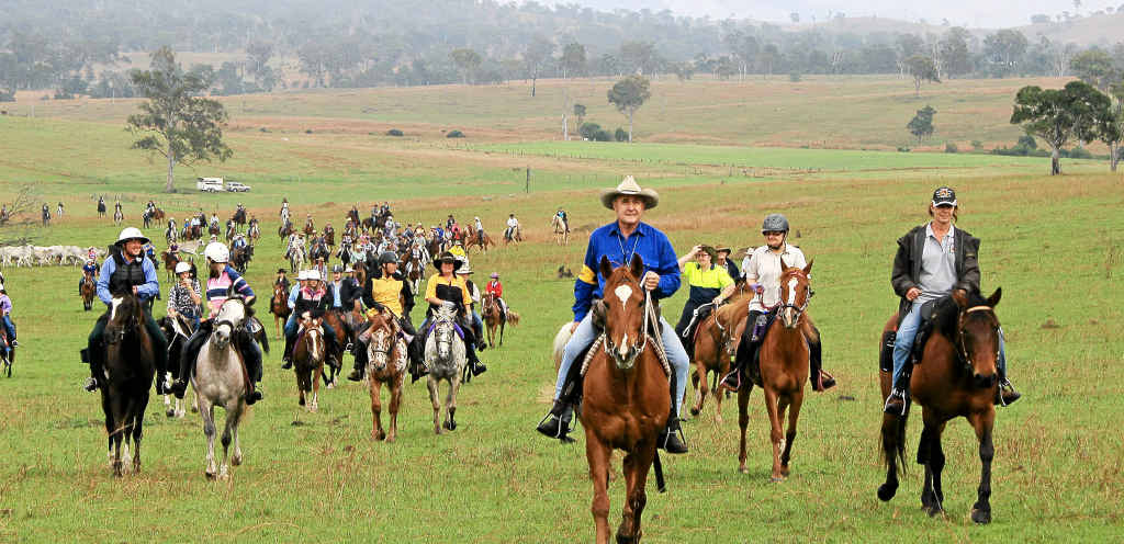 Mike Webb leads one of the trails of the Kilkivan Great Horse Ride.