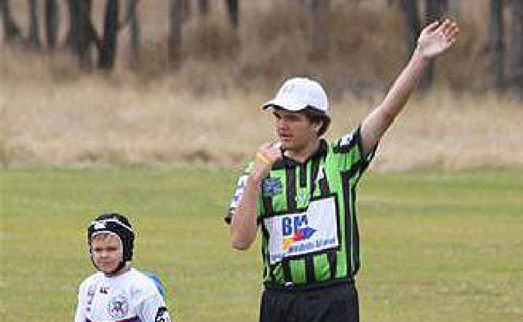 Young Central Highlands referee Jordan Reinke looks set to step up in grade this season.