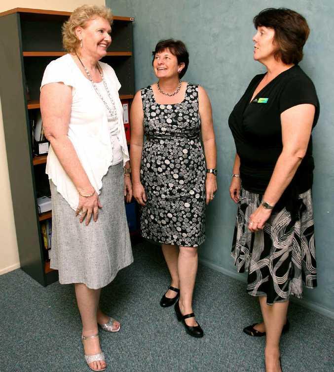 Karen Gerrade, Helen Hansen and Deborah Sear at the first Communities for Children meeting at The Smith Family.