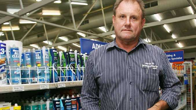 Finch's Mitre 10 manager Geoff Gohdes says the store has been broken into twice in two days.