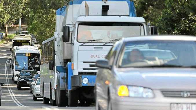 Traffic congestion on Bellvista Blvd when school traffic backs up from the Caloundra Rd roundabout.
