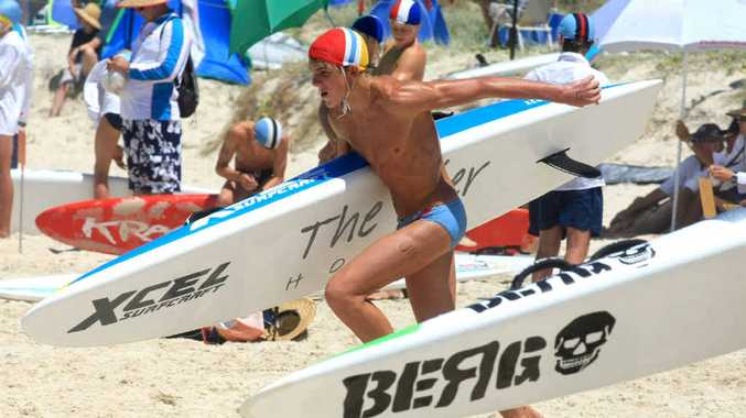 Young competitors in the NSW Lifesaving Championships being held at Kingscliff beach. Blainey Woodham