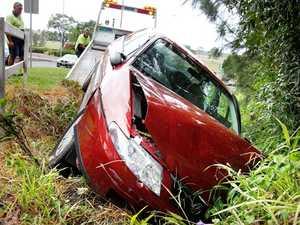 Wet roads bring drivers unstuck