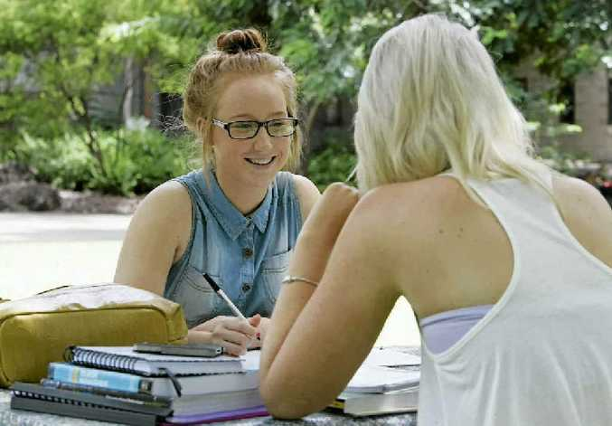 Ashley Borich, of Rockhampton, is studying a double degree in Business and Professional Communication. She is not happy about the compulsory student service fees introduced this year.