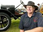 Wellcamp grain farmer Owen Mesken displays his 1925 Model T Ford converted to a tractor.
