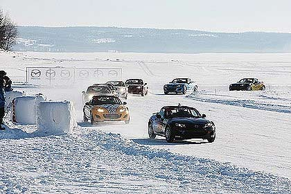 The larger Swedish-based European ice racing contest took place in 2011.