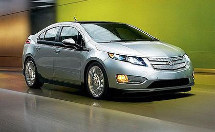 Chevrolet's hybrid electric car, the Volt.