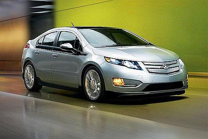 Chevrolet's hybrid electric car, the Volt.