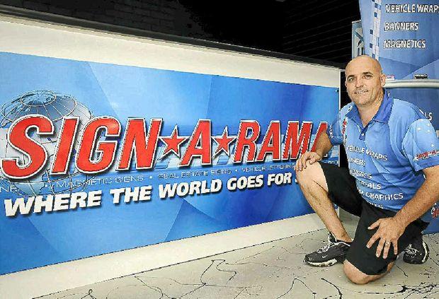 Jason Goulding of Sign-a-Rama, Casino. Doug Eaton